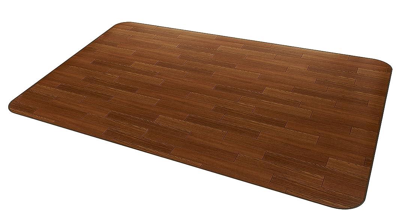 必要としている遠洋の砂の汚れてもサッと拭ける 安心の日本製 大事な床の保護 アキレス 木目調ラグマット ブラウン 300cm RG-99230