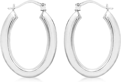 Carissima Gold Women's 9 ct Gold 20 x 27 mm Polished Oval Creole Earrings