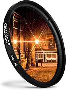 CELLONIC   Star Filter compatible with walimex pro 82mm Point  Cross F...
