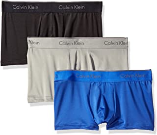 Calvin Klein Men's Microfiber Stretch Multipack Low Rise Trunks