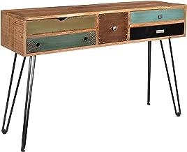 Treasure Trove Accents Brisbane Five Drawer Console Table, Multicolored
