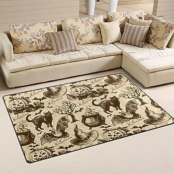 Halloween Witch Carpet Non Slip Washable Entrance Front Door Rug Floor Mat A4860