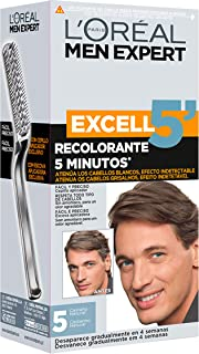 L'Oréal Men Expert Coloración Excell 5' - Recolorante 5 Minutos, Tono 5, Castaño Natural