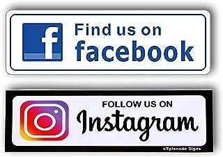 eSplanade Sign Sticker Instagram Facebook and Instagram Facebook Combo+ (Instagram and Facebook Combo)