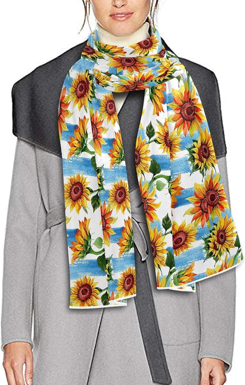 Scarf for Women and Men Wild Flower Sunflower Shawl Wraps Blanket Scarf Soft Winter Large Scarves Lightweight