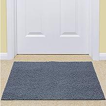KUBER INDUSTRIES KUBMART004993 Rubber 1 Piece Door Mat 16x24'', Grey, 40x60 cm