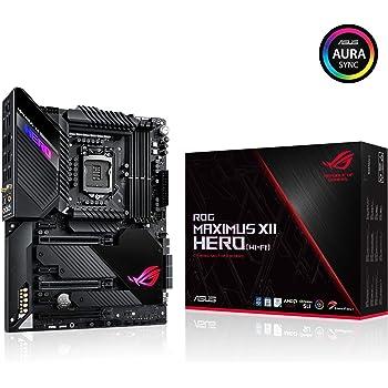 ASUS ROG Maximus XII Hero Z490 (WiFi 6) LGA 1200 (Intel 10th Gen) ATX Gaming Motherboard (14+2 Power Stages, DDR4 4800+, 5Gbps LAN, Intel LAN, Bluetooth v5.1, Triple M.2, Aura Sync)