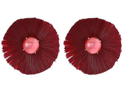 Kate Spade New York Posh Poppy Studs Earrings (Burgundy) Earring