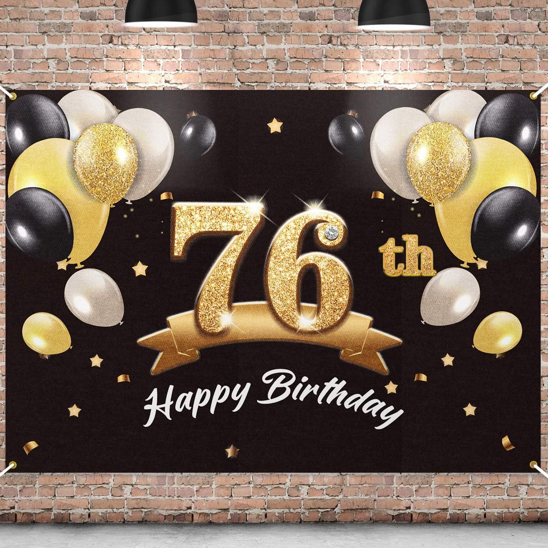 PAKBOOM Bargain Happy 76th Birthday Banner Ranking TOP11 Party - Backdrop 76