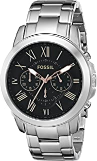 Fossil Men's Fs4994 Grant Chronograph Stainless Steel Watch - Silver-Tone, Analog Display