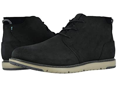 TOMS Navi (Black Distressed Leather) Men