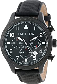 Nautica N18685G BFD 105 Stainless Steel Watch with Black Cloth Band