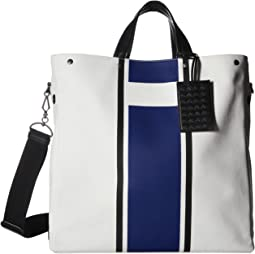 Bottega Veneta - Canvas Lines Tote Bag
