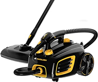 McCulloch MC1375 Canister Steam Cleaner with 20 Accessories, Extra-Long Power Cord, Chemical-Free Cleaning for Most Floor...