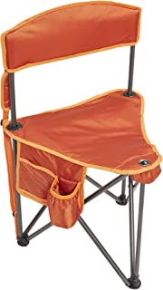 Lightspeed Outdoors Xtra Wide Nylon Ripstop Tripod Lightweight Folding Camping Sports Chair (Orange)