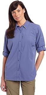 قميص كولومبيا سيلفر ريدج طويل الأكمام للنساء (مقاس ممتد)
