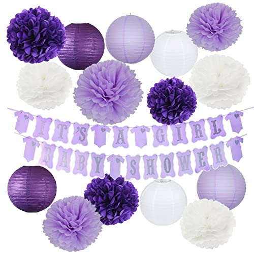 Lavender Baby Shower Decorations Amazoncom