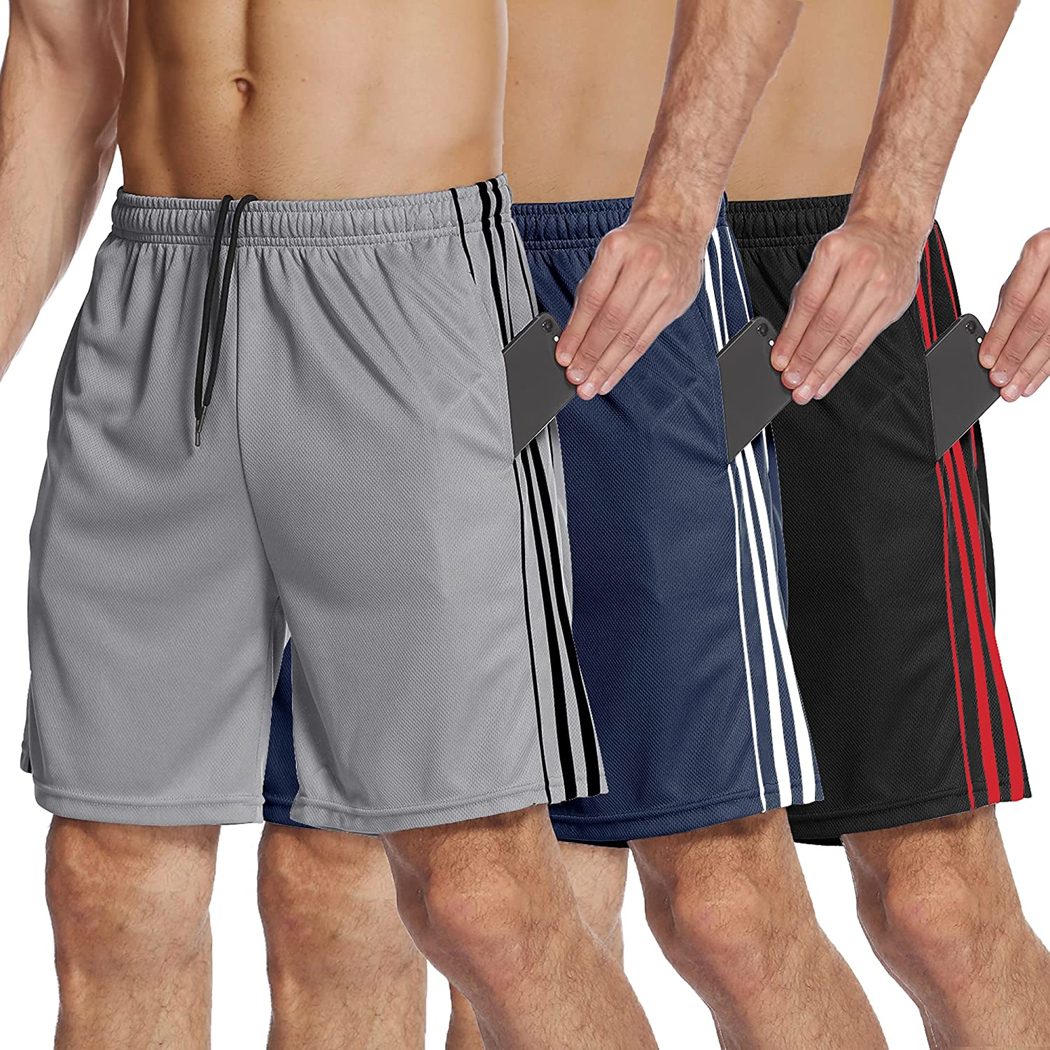 COOFANDY Men's 3 Pack Athletic Quick Shorts Dry New products world's highest quality popular Performance Max 45% OFF Mesh