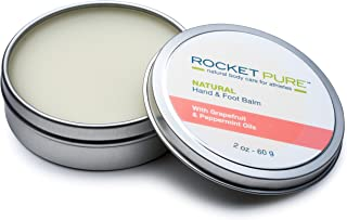 Natural Hand and Foot Balm for Athletes with Grapefruit and Peppermint. for Dry Cracked, Damaged Heels from Running, Hiking. Moisturize Dry, Chapped Hands from Climbing, Lifting and Other Sports.