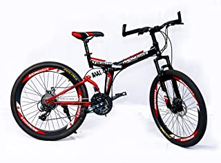 89945719363 MDS Unlimited Bicycles-Foldable Sports Cycle with 24 Gears and Double disc  Brake 26 inch