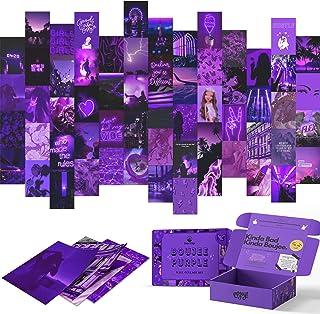 Boujee Kit de collage mural violet 60 photos pour adolescentes, filles, chambre à coucher, dortoir, décoration de chambre ...