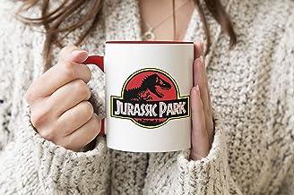 Jurassic Park Fun Logo Red Handle Mug Coffee Tea Mug 312ml Cup
