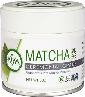 Aiya Ceremonial Matcha Tea, 30 Gram tin
