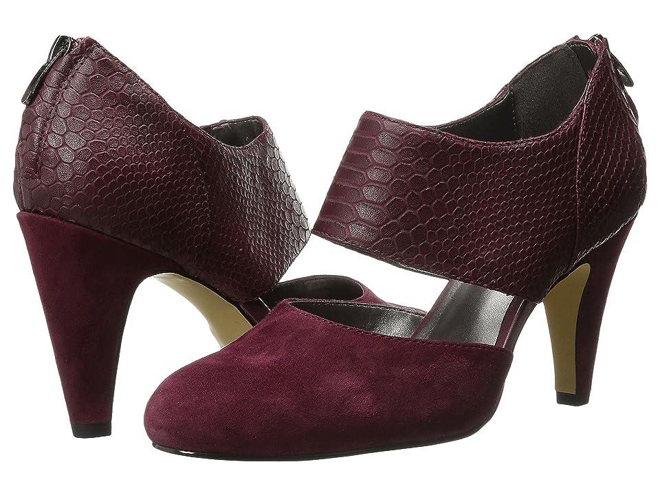 Bella-Vita Neola (Burgundy Suede/Croco) High Heels