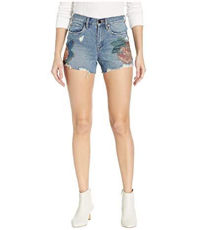 Blank NYC The Barrow High-Rise Floral Detail Shorts in Wild Flower (Wild Flower) Women