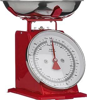 Premier Housewares - Peso de Cocina (hasta 5 kg), diseño Retro, Color Rojo