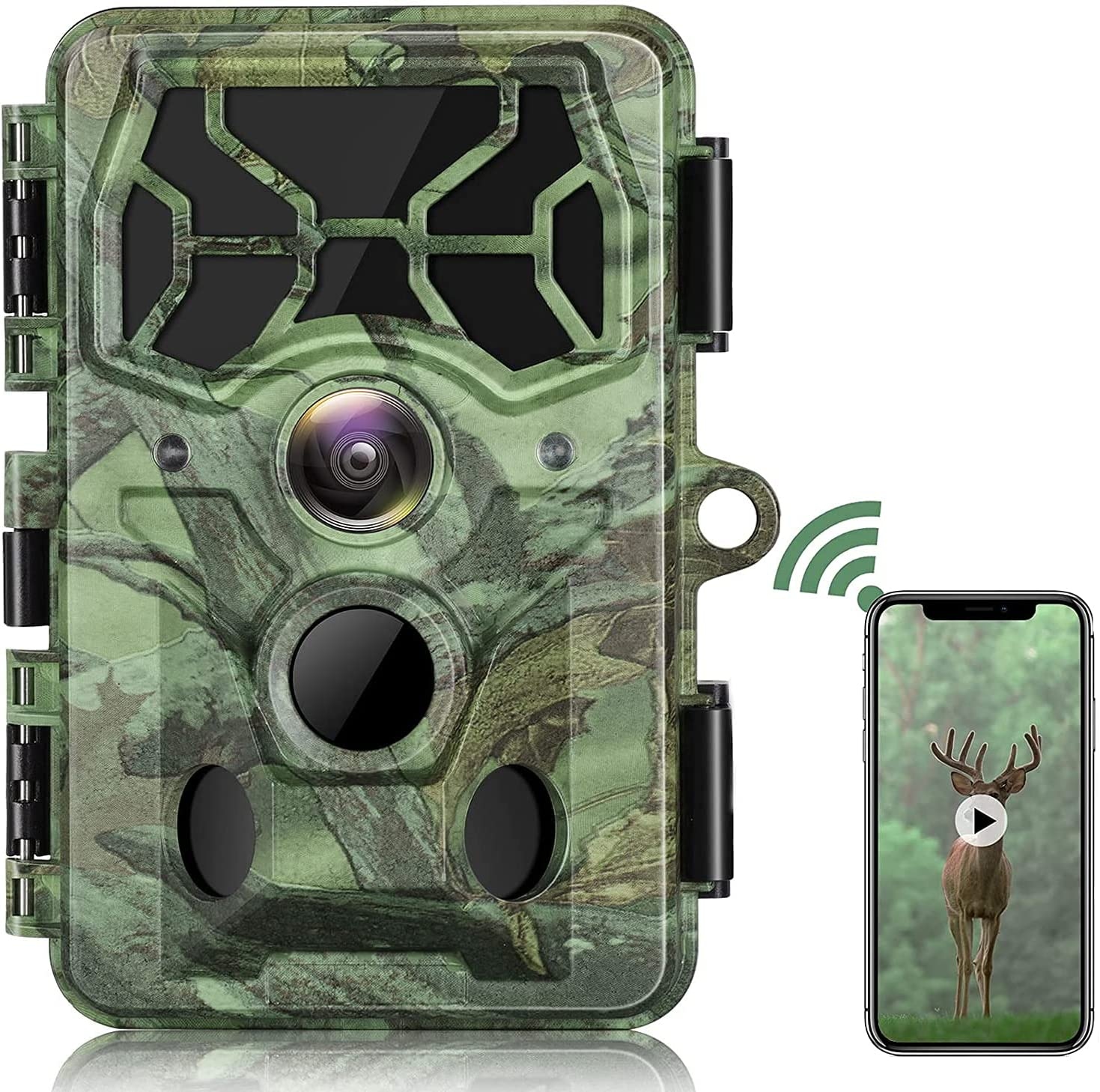 4K Native WiFi Trail Camera-30MP Game Selling rankings Bluetooth w Camera Max 41% OFF Hunting
