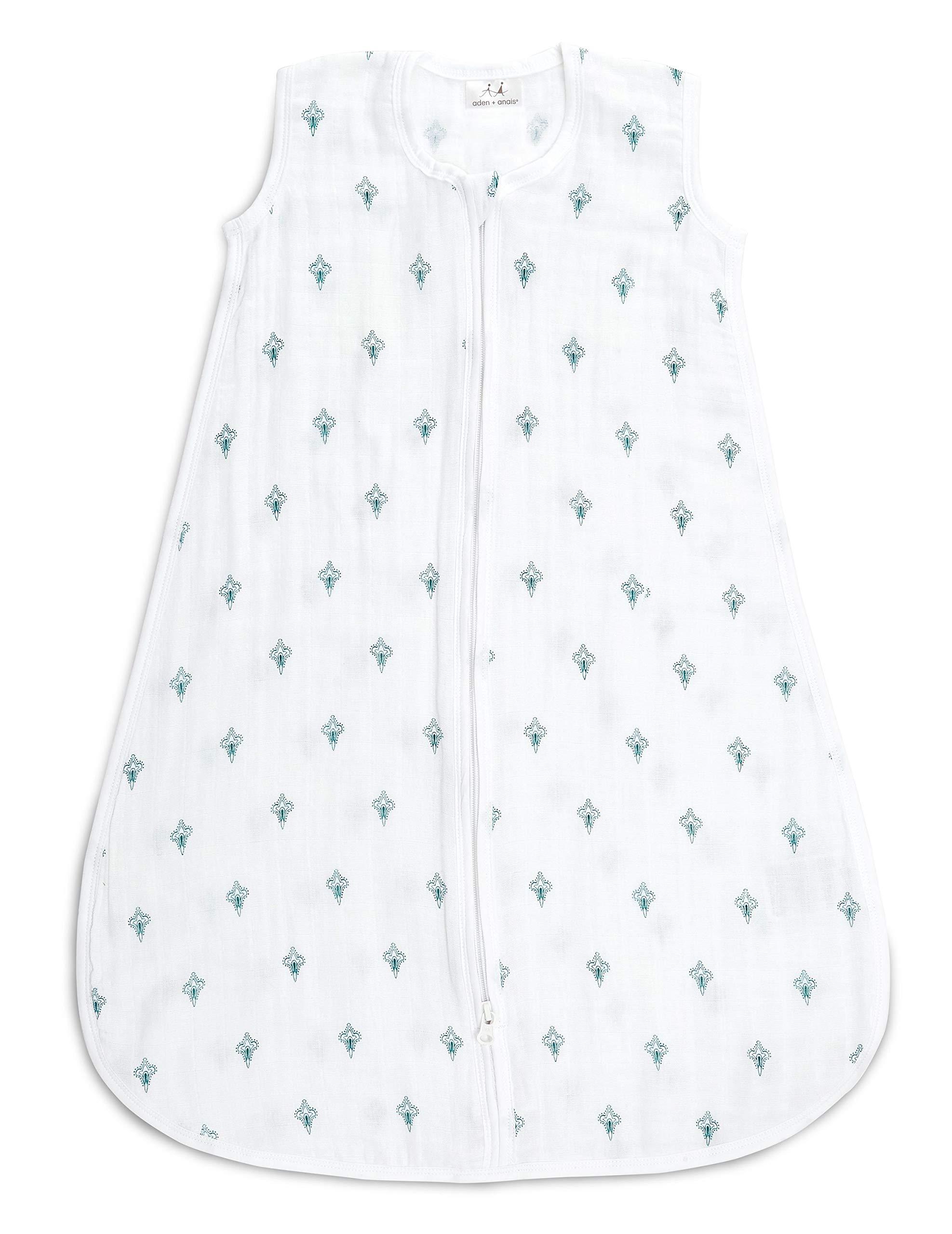 aden + anais Classic Sleeping Bag, Paisley - Teal - Paisley Drip, Large
