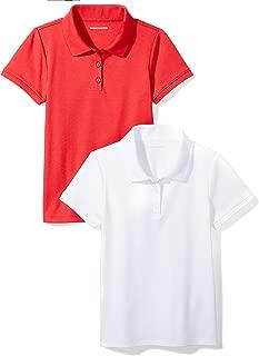 Girls' Short-Sleeve Uniform Interlock Polo