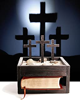 Wooden Faith Box with LED Light. Unique Religious Gift. Shine Crosses up on Wall 3' High Unlike Other Gifts. Unique Memorial, Christmas, Baptism, Easter and Housewarming Gift. Contact Seller to Purchase a Brass Plate to Be Engraved or Type Engrave Faith Box in the Search and Get an Engraved Brass Plate. Great for Both Men and Women. 100% Satisfaction Guaranteed