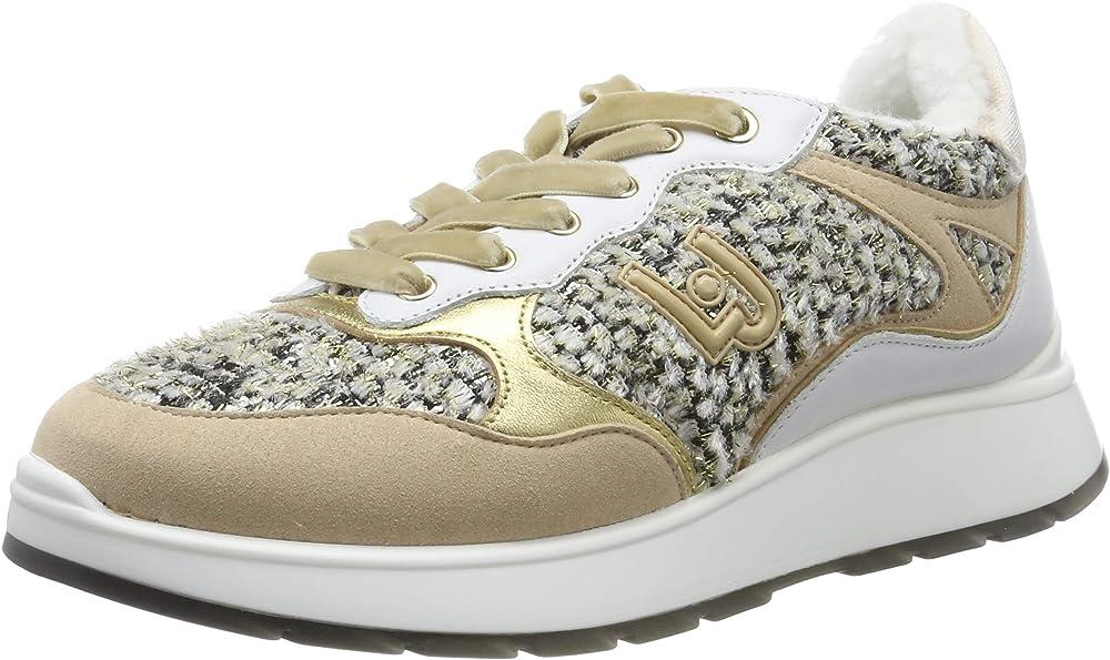 Liu jo jeans asia 06 ,sneakers, scarpe da ginnastica per donna,in tessuto e pelle B69009TX04800529