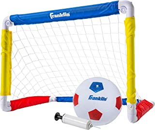 "Franklin Sports Kids Soccer Goal with Ball & Pump – 24"" X 16"" Folding Goal – Great for Backyard Or Indoor Play"