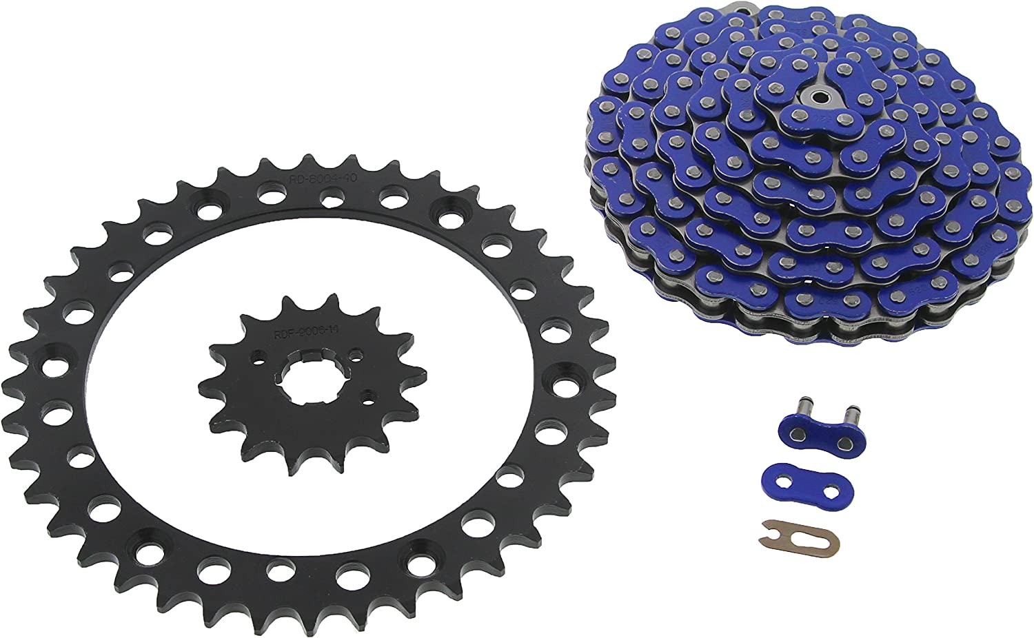 1999-2003 fits Yamaha YFM350 350 Max 59% OFF Warrior Chain Blue Department store Spro Black
