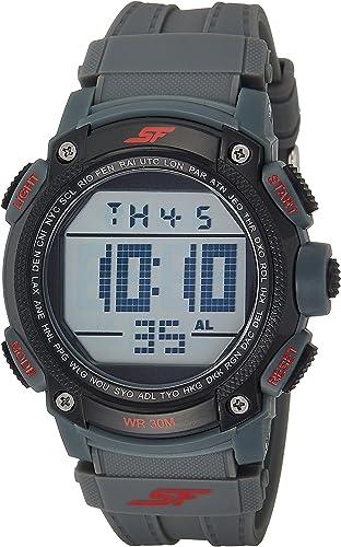 Sonata Fibre (SF) Digital Grey Dial Men's Watch NL77073PP02A / NL77073PP02A