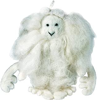 Wild Woolies White Felt Yeti Ornament