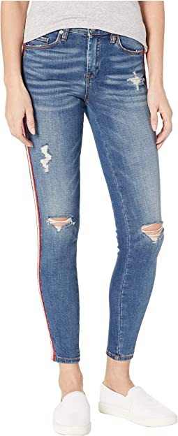 The Bond High Rise Skinny with Racing Stripe in Jersey Girls
