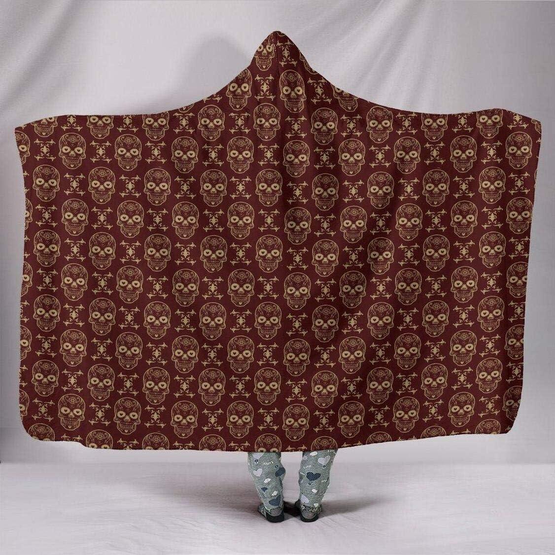 Personalized Sugar Skulls Blanket Cash special price Oversized Ho Virginia Beach Mall - Hoodie