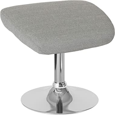 "F&F Furniture Group 17.5"" Light Gray Egg Series Fabric Ottoman"
