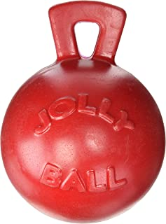 "Jolly Pets Tug-n-Toss - Heavy Duty Chew Ball w/ Handle (Red, 8"")"