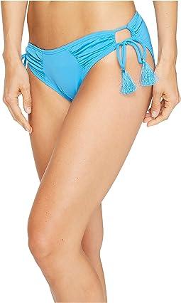 Fiji Solids Side Tie Cheeky Bikini Bottom