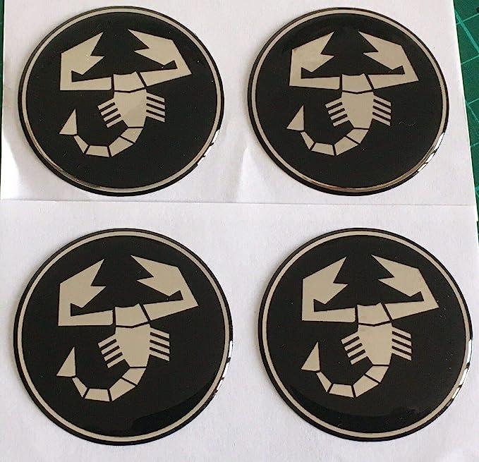 4 COPRIMOZZO IN SILICONE ADESIVO STICKER SCORPIONE 54,0 mm Emblema-Nuovo