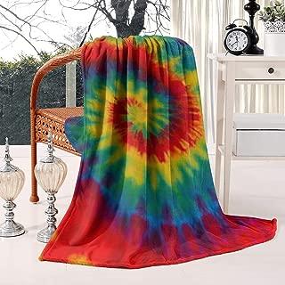 Unicorns Farting Tie Dye Rainbow Art Wallpaper Summer Thick Blanket Cozy Bed Warm Throw Blanket Flannel Fleece Blanket, 59 X 79 Inch