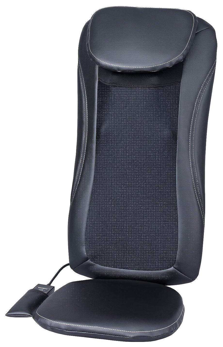 派手肉屋ファンスライヴ マッサージシート 「横回転もみ玉搭載」 ブラック MD-8600 BK
