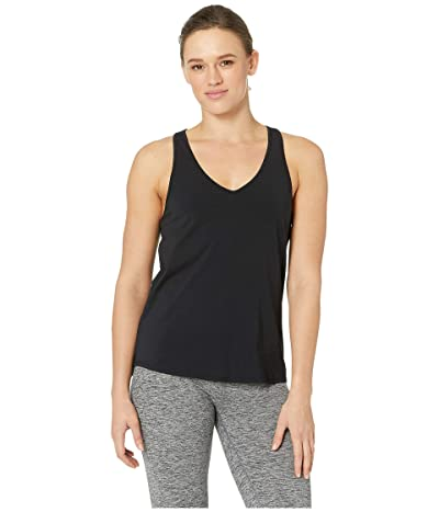 manduka Adorn Twist Back Tank Top (Black) Women