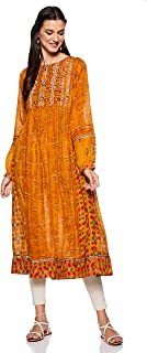 Women's Viscose Cotton Georgette Regular Kurta