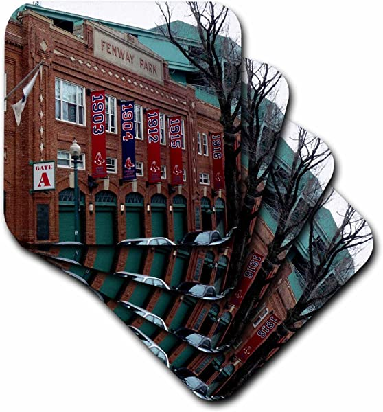 3dRose CST 59200 2 Fenway Park Just Days Before The Celebration Of Its Hundredth Anniversary Soft Coasters Set Of 8